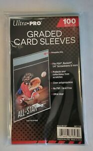 1 Pack of 100 Sleeves - Ultra Pro Resealable Graded Card Sleeves For PSA Cards
