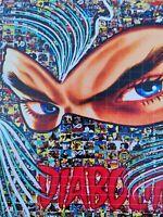 MARIA MURGIA  - DIABOLIK -  2020 Pezzo unico dipinto  cm 50x50 + ARCHIVIO