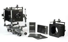 Plaubel PECO Profia 4X5 monorail camera + Rodenstock 135mm lens + holders + FILM