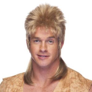 High Quality Honey Blonde Mullet Hair Wig Adult Male Joe Dirt 1980's 80's Rocker