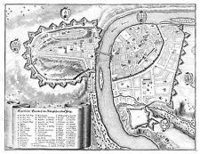 Mapa Antiguo Merian 1650 Praga Plan ciudad vieja Gran réplica cartel impresión pam1091