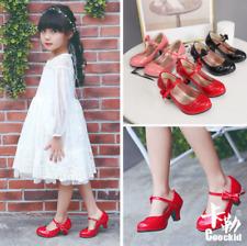 Children's Girls Princess High Heels Dance Shoes Girls High Mid Heel Party Shoes