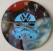 VW FUNKY WALL CLOCKS .CLASSIC VAN.vintage cars.VW logo.spray paint.star wars
