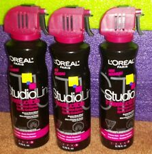 NEW Lot of 3 Loreal Studioline Indestructible Creation Hair Spray Extreme Hold