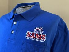 BLUEFIELD COLLEGE RAMS BLUE POLO SHIRT, ADULT SIZE EXTRA LARGE, XL, NEW NWOT