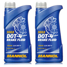 Bremsflüssigkeit MANNOL DOT4 SAE J1703 2 Liter (2x1) Brems Flüssigkeit Universal