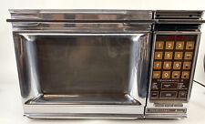Vintage 1980s Amana Radarange Microwave Oven RR-10A Chrome Front TESTED Works