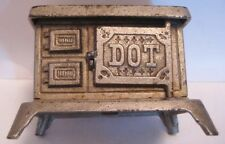 "Darling Antique Cast Iron Toy Doll House Kitchen Stove 3  5/8"" Kenton DOT 1920s"