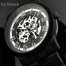 Winner Stainless Steel Case & Strap Skeleton Mechanical Watch