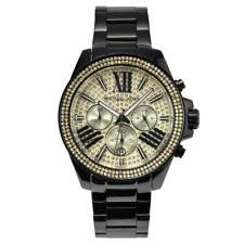 Michael Kors MK5961 Black Gold Pave Chronograph Watch for Women