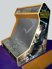 "19"" Arcade bartop cabinet MDF board + ACRYLIC GLASS + STICKERS - Kit DIY"