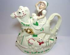 "Lenox For The Holidays ""Elf & Rocking Horse Teapot"" In Time For Christmas"
