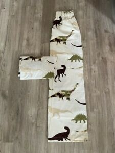 Childrens dinosaur camouflage print curtains - track fitting