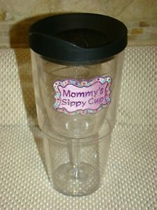 Tervis Tumblers Large Size Mommy's Sippy Cup Wine Goblet with Lid  - *Flaws