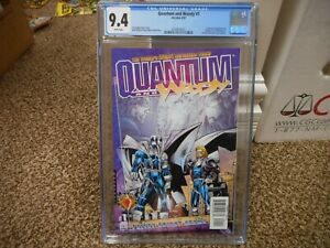 Quantum and Woody 1 cgc 9.4 Valiant Acclaim 1997 1st appearance NM MINT WHITE pg