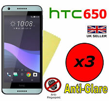 3x Hq Matte Anti Glare Screen Protector Cover Films Guard For Htc Desire 650
