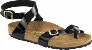 Birkenstock Zehensteg Sandale Yara BF Patent black Gr. 35 - 43 1005163 / 1005164