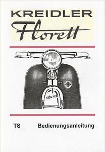 Bedienungsanleitung Kreidler Florett TS, A 5,