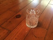 Vintage/ Daisy Flower Image Cut/ Crystal Shot Glass