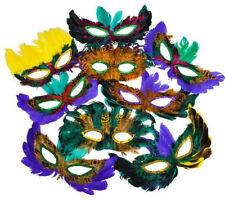 10 Pieces Mardi Gras Feather Mask Masquerade Ball Wedding Party USA Seller