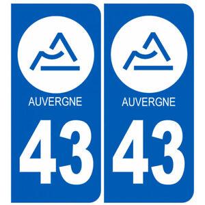 Sticker / autocollant : immatriculation 43 Auvergne de la Haute Loire