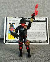 GI Joe ARAH Iron Grenadier V1 Figure Cobra Vintage Original 1988 file card
