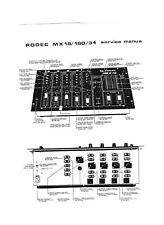 Table de mixage RODEC MX18 : manuel de maintenance
