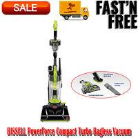 BISSELL PowerForce Compact Turbo Bagless Vacuum, Dorm Vacuum Essentials, Green