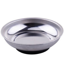 Silver Magnetic Steel Parts Nuts Bowl Tray Dish Storage Machine Repair Tool Kits