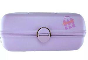 Vintage Caboodles California Pink Purple Lavender Lilac Makeup Case Mirror #2620