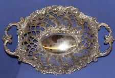 Vintage Floral Ornate Metal Bowl