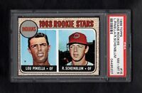 1968 TOPPS #16 INDIANS ROOKIE STARS LOU PINIELLA RC PSA 8 NM/MT SHARP!