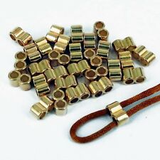 30 x Gold CCB Double Holes Slider Spacer Beads Fit 4mm Round Leather Cord CB1
