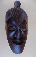 African Wooden Mask Wall Hanging - 16 Inches