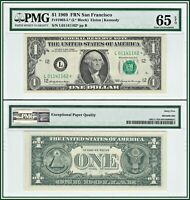 1969 Star $1 San Francisco Federal Reserve Note PMG 65 EPQ Gem Unc FRN Dollar