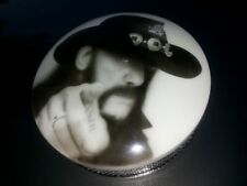 Harley Davidson air filter with custom Lemmy Kilmister airbrush painting cover