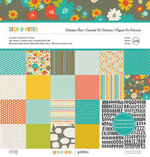 Pebbles Inc. 12x12 Scrapbook Collection Pack - Seen & Noted