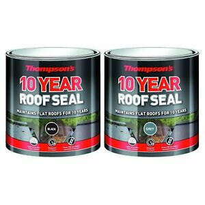 Thompson Roof Seal 10 Year Weather Proof Protection Rubber Leak Repair Paint