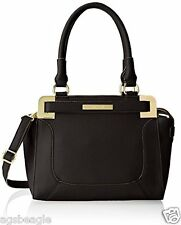 BID Anne Klein Trinity Medium Satchel Black Agsbeagle