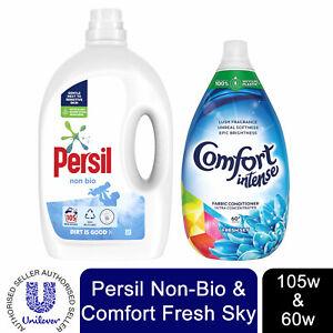 1x Each Laundry Bundle: Persil 105W Non-Bio Liquid&Comfort FabricConditioner 60W