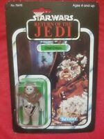 1983 Star Wars ROTJ Chief Chirpa Ewok Carded Sealed New MOC Super Nice Piece