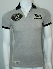 Polo Ralph Lauren Custom-Fit Football Polo Pointe Gray Size XS  NWT