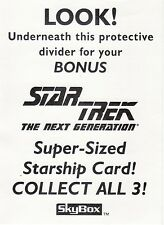 Skybox Star Trek TNG Season 3 Rare 3 Card Oversized Promo Set Plus Box Header