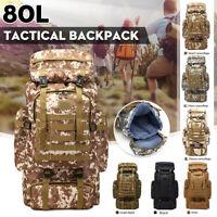 80L Taktische Militär Rucksack Outdoor Reise Rucksäcke Zelten Tasche