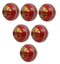 Crown Senior Leather Cricket 4 Pce Ball Official Sports Training Balls Pack of 6