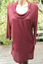 Crossroads 3/4 Sleeve Tunic Solid Tops & Blouses for Women