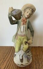 Homco Home Interiors BOY CARRYING GRAPES Figurine #1258 Collectable Decor