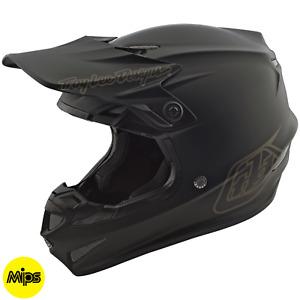 Troy Lee Designs Se4 Helmet Polyacrylite TLD Mx Motocross Dirt Bike MONO BLACK