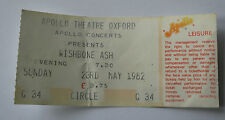 WISHBONE ASH Concert Ticket Stub 1982 Apollo Theatre Oxford