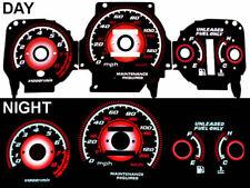 Red Type R Reverse Black Glow Gauge For 1996-2000 AT Trans Honda Civic EK LX/EX
